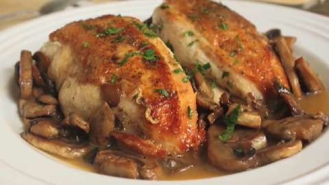 Chef John's Chicken and Mushrooms   Gourmet flavor from 2 ingredients? Chef John shows you how.