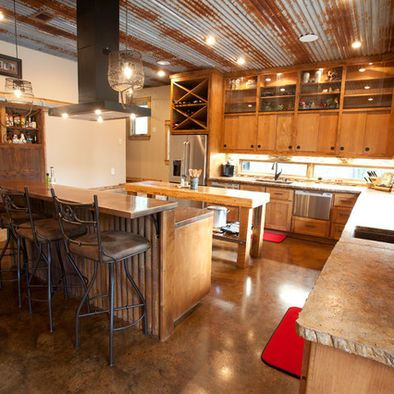 Corrugated iron ceiling! Google Image Result for http://st.houzz.com/fimages/1301786_1518-w394-h394-b0-p0--modern-kitchen.jpg