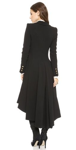 alice + olivia Bain Pleated Long Coat | SHOPBOP