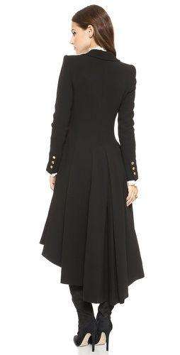 alice + olivia Bain Pleated Long Coat | SHOPBOP