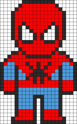 SpiderMan quilt or crocheted afghan.