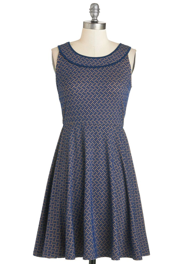 Board Member Brunch Dress. As the coffee arrives and the board files in, you remove your blazer to reveal this twilight-blue dress. #blue #modcloth
