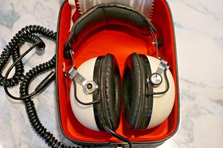 Vintage Pioneer SE-50 Stereo Headphones Original White in Box - Works #Pioneer