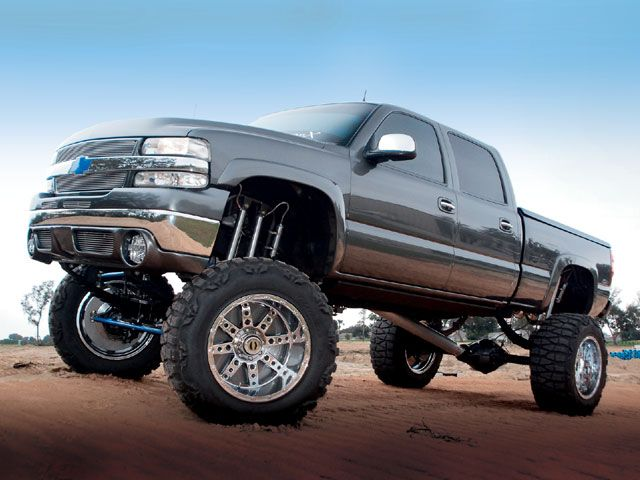 Lifted Chevy Silverado - If I could afford the gas driving all over the place in something like this, I'd get one in a heartbeat.