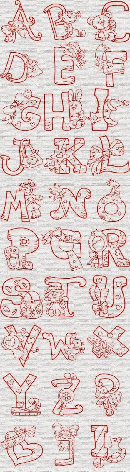 Alfabeto con juguetes y cosas de nena. | Oh my Alfabetos!