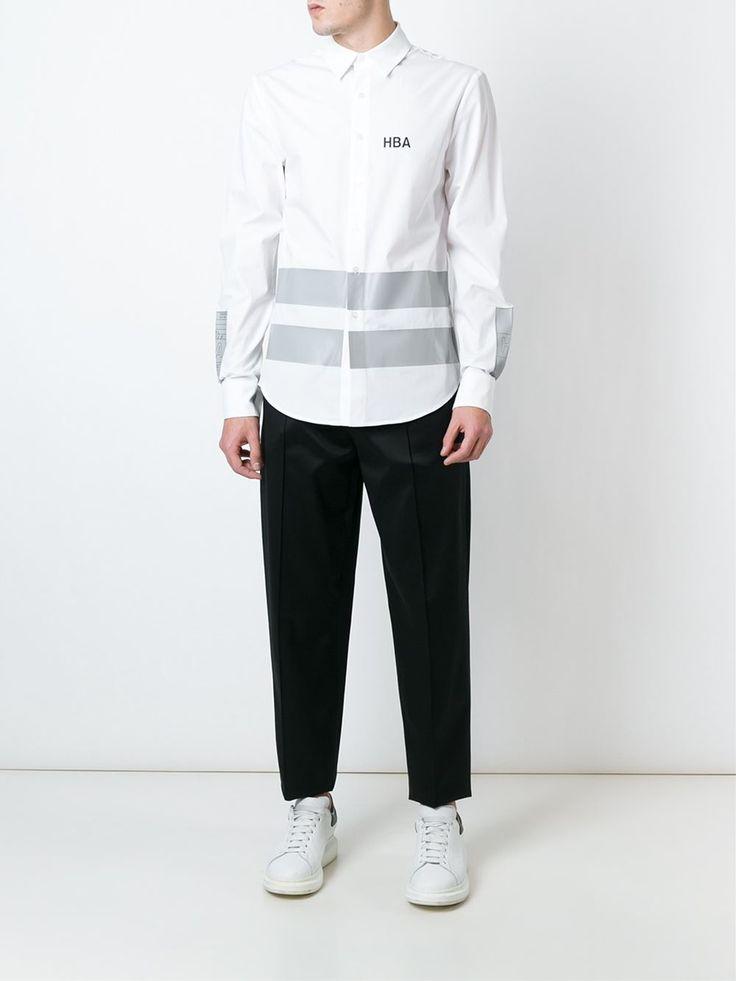 Hood By Air striped logo shirt