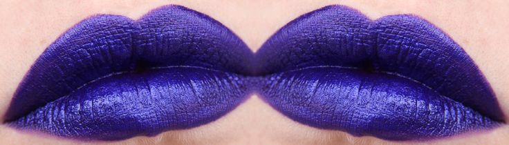 "OCC Lip Tar ""Technopagan"" Metallic blackened purple with blue pearl."