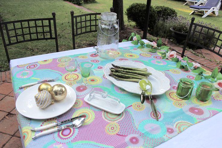 que rico almorzar en la terraza!