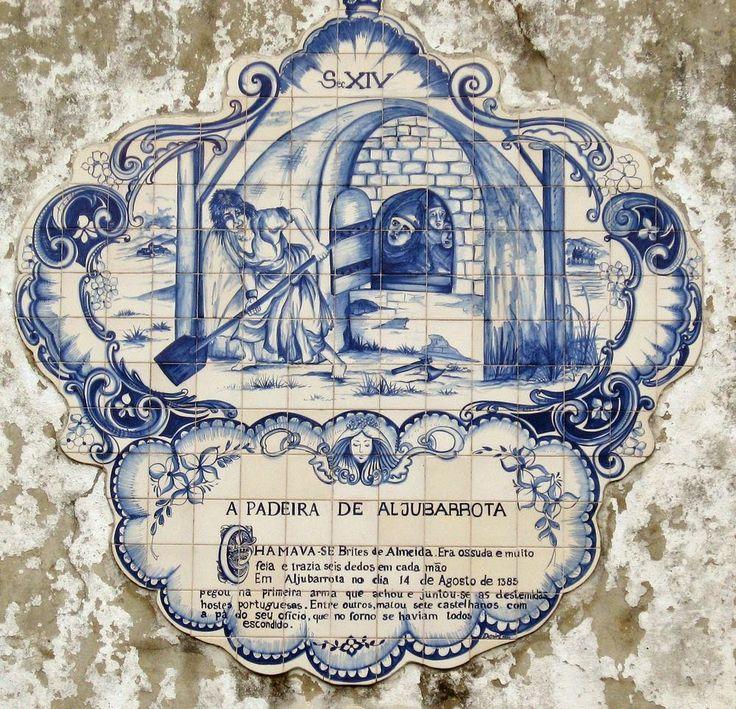 Azulejo Português – A Padeira de Aljubarrota