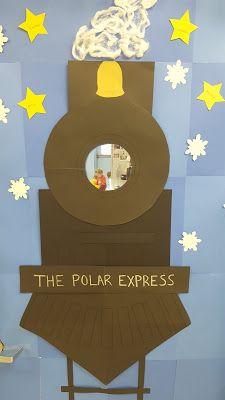 Song to Sing: Winter classroom door - the polar express