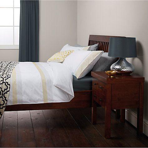 Buy John Lewis Soraya Embroidered Stripe Duvet Cover and Pillowcase Set Online at johnlewis.com