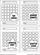 """Free valentines to print and color for Valentine's Day; use the """"shining star"""" card to reward a deserving student any time of the year"""