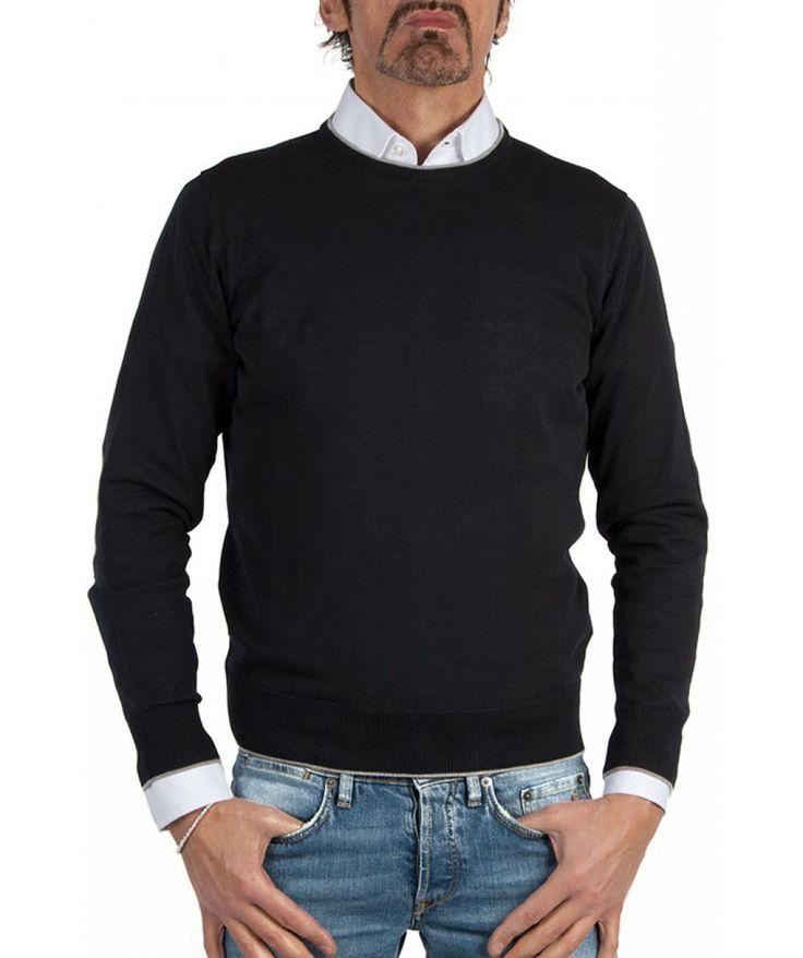 Groppetti Luxury Store - Maglia Girocollo con Toppe - Eleventy Spring Summer Collection 2014 #eleventy #men #man #fashion