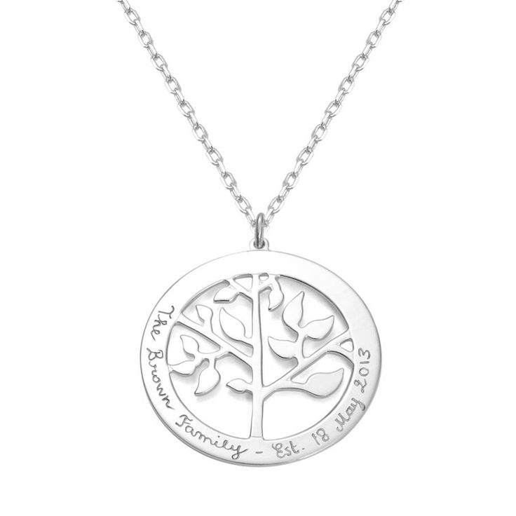 Personalised Tree Of Life Necklace from notonthehighstreet.com