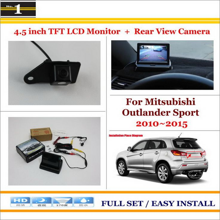 """Auto Back UP Reverse Camera + 4.3"""" Color LCD Monitor = 2 in 1 Rearview Parking System For Mitsubishi Outlander Sport 2010~2015"""