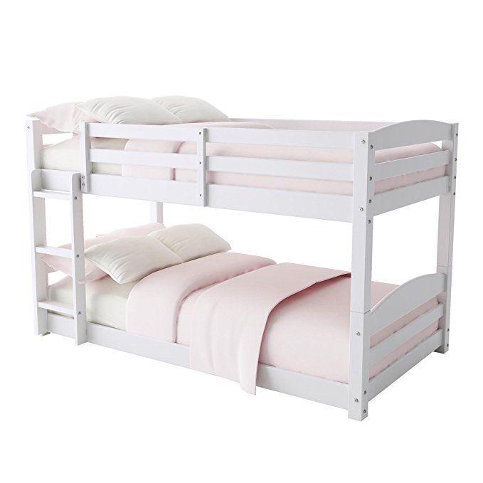 Dorel Living Phoenix Solid Wood Twin Over Twin Floor Bunk Beds