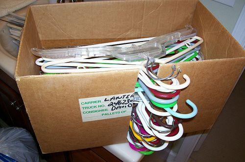 DIY Hanger storage box by gaorganizer