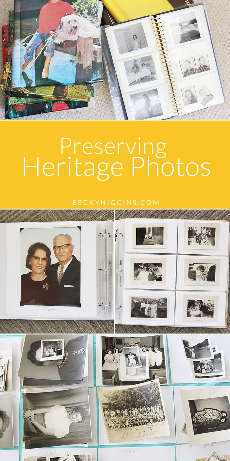 Great tips for preserving Heritage photos. Becky Higgins Project Life