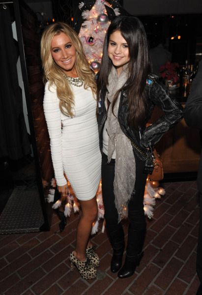 Selena joined Ashley Tisdale at her holiday party for Blondie Girl Productions.