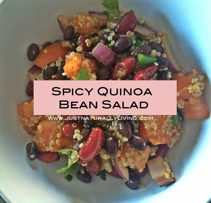 One of the hardest parts of eating healthy is the lack of quick options out there. Here is a spicy bean quinoa salad that is quick and easy.
