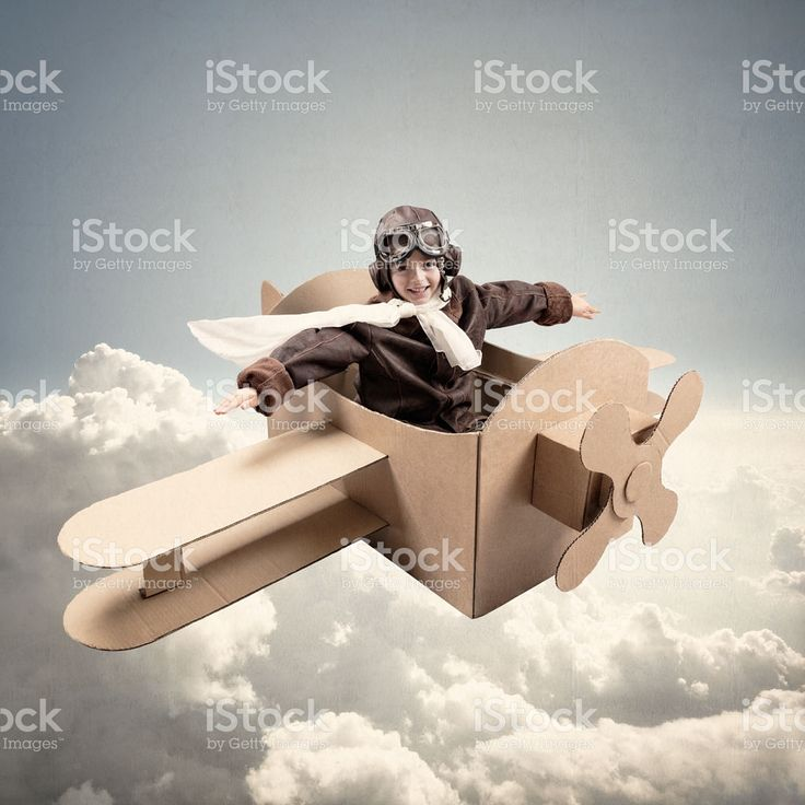 Dreams of being a pilot royalty-free stock photo