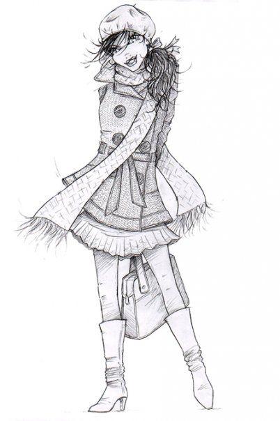 Fall fashion illustration  , Emmanuel Mauger fashion illustrator