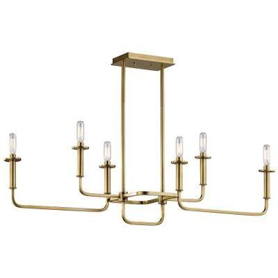 Kichler Lighting 43362NBR Alden - Six Light Linear Chandelier