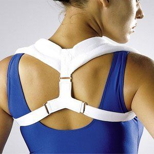 LP Orthopedic Back Posture Aid Brace (Unisex; White), Medium by LP. $24.90. Aids shoulder blade/clavical fracture; immobilizes clavicles to aid healing. Promotes healthy posture - excellent aid for correcting poor posture & shoulder slump. Adjustable fit helps compression & stabilization; Sizes run snug; for sizing see Description below. Hook & Loop closure allows the brace to be put on & removed without assistance. Padding for comfort - outline may be seen under th...