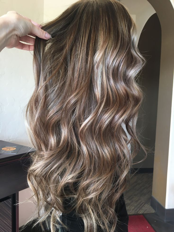 Mushroom Brown Hair With Blonde Highlights Balayage