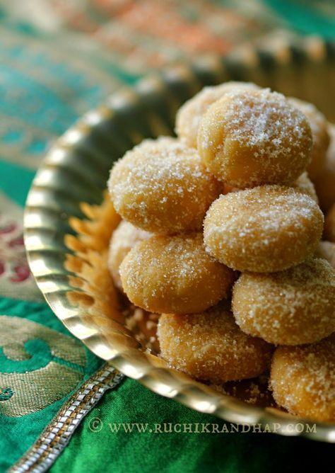 Ruchik Randhap (Delicious Cooking): Mangalore Peda   Besan Peda