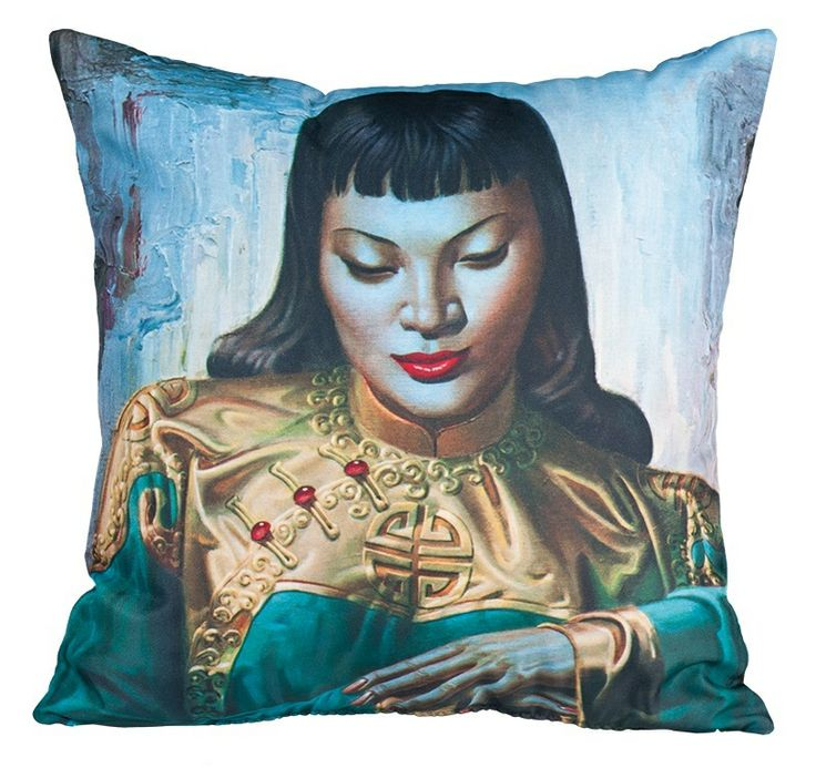 Lady from Orient cushion by Tretchikoff