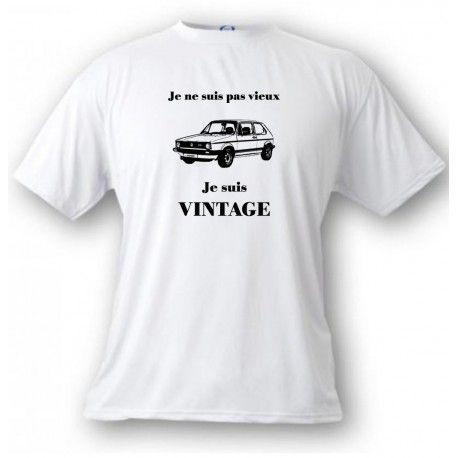 T-Shirt humoristique mode homme - Vintage VW Golf GTI MK1 https://www.apprentiphotographe.ch/shop/fr/t-shirts-funny-humoristiques-femme-homme/1168-t-shirt-humoristique-homme-vintage-vw-golf-gti-mk1.html