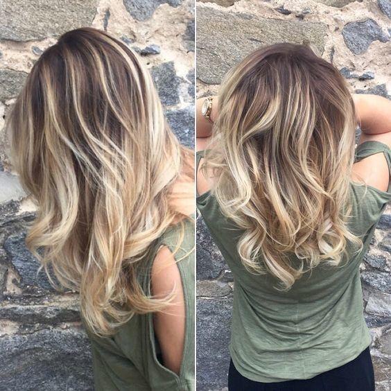 Célèbre Les 25 meilleures idées de la catégorie Mèches blondes sur  FK48