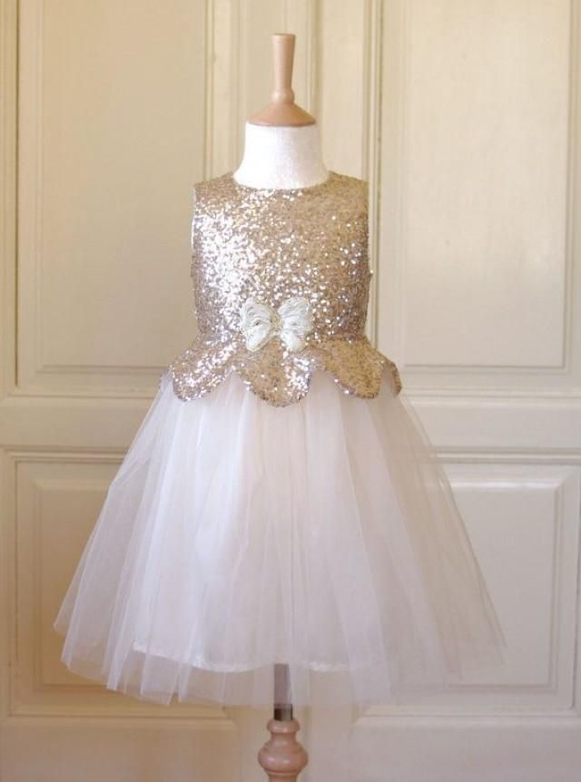 Pale Gold Flower Girl Dress LIVING FOR THIS....LIVING!!!! ☆☆☆☆ AILA IS OBSESSED.