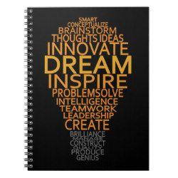 Inspirational Light Bulb custom notebook