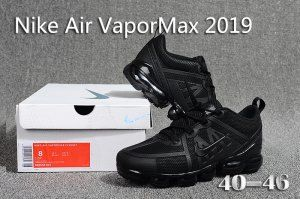 fe1600ac62cf0 Nike Air VaporMax 2019 KPU Triple Black 849558 001 Men s Running Shoes