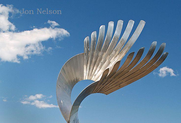 top of bird sculpture