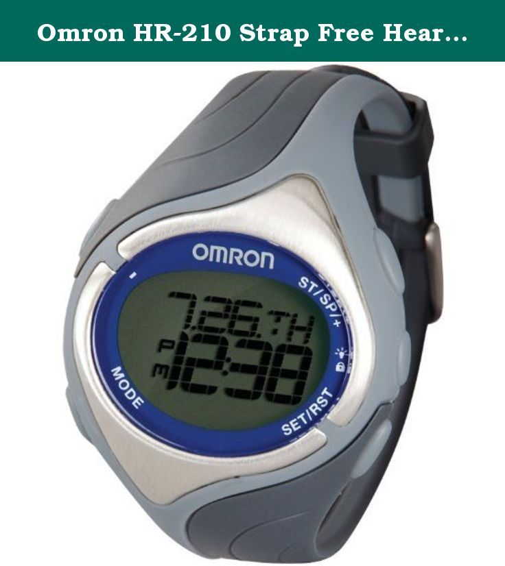 Omron HR-210 Strap Free Heart Rate Monitor by Omron. Accurately tracks and displays your current heart rate;Tracks calories burned;Stopwatch, clock, alarm and calendar;Water resistant.