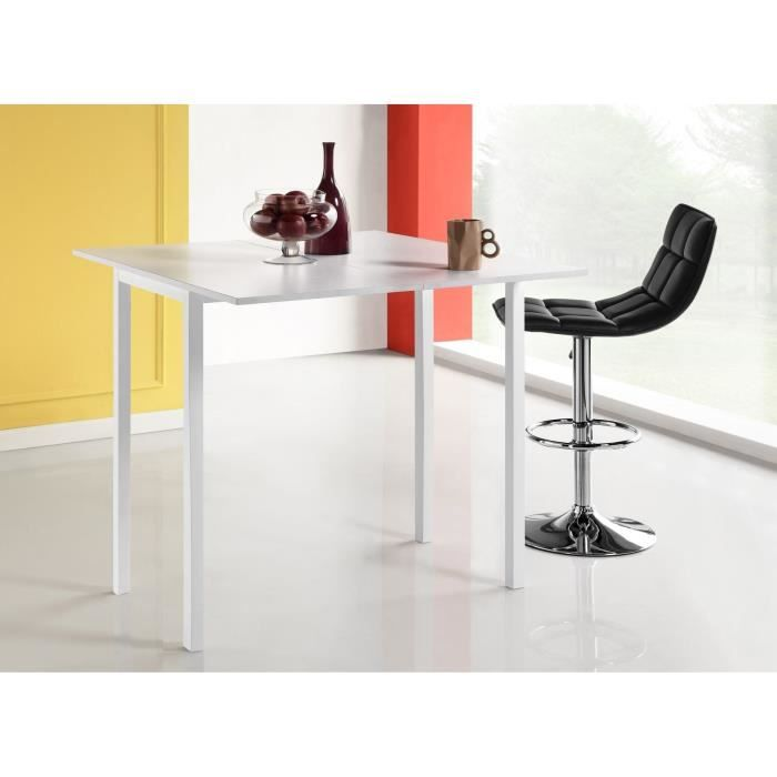 Awesome Table De Bar Blanc #8: LIRA Table De Bar Extensible Blanc