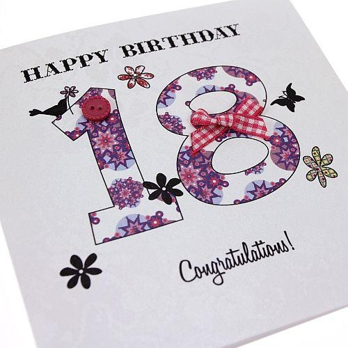 Handmade Vintage 18th Birthday Card - 'Happy Birthday... Congratulations!' Buy Here: http://thehandcraftedcardcompany.co.uk/cardcrafts/7792-vintage-party.asp?refid=7814