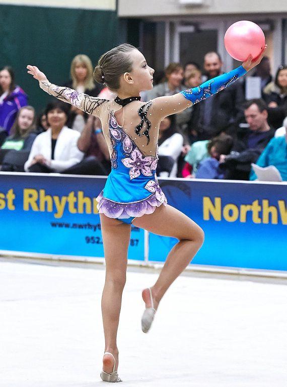 Competition Rhythmic Gymnastics Leotard by Savalia on Etsy