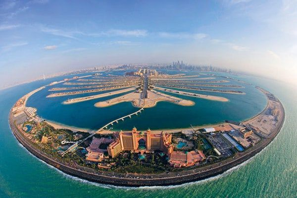 It is the world's largest man-made island and is comprised of a two kilometre long trunk..  http://goo.gl/mKHl7M