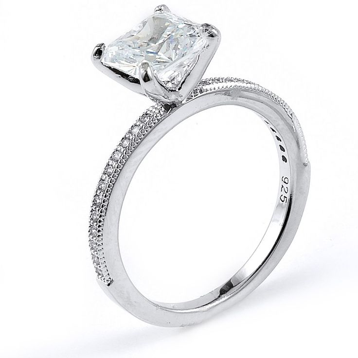 Fabulous CZ Princess Cut Wedding Ring Sets