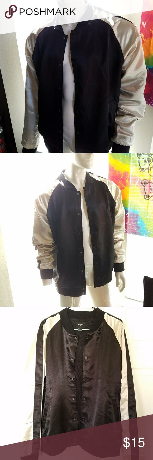 21Men Light track Jacket Light black and gold jacket with buttons 21men Jackets & Coats