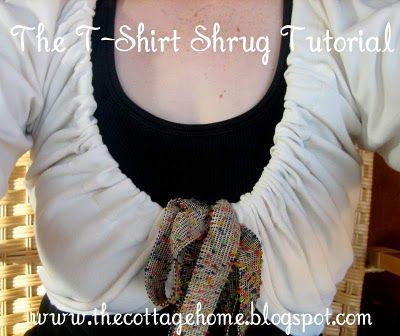 The Cottage Home: Easy-Sew T-Shirt Shrug Tutorial