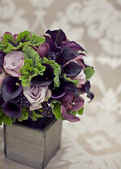 Sept wedding color combo's...Dark purple, lavender and green! (Replace the lavender with the cranberry color) by Olive Oyl