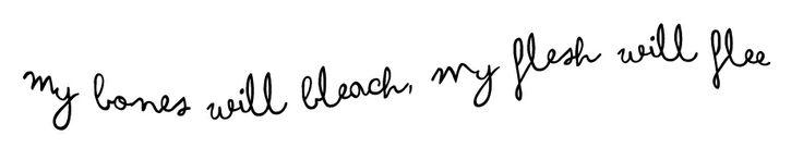 """Será uno de mis próximos tatuajes!! en tinta blanca, una frase de la canción """"My Blood"""" de Ellie Goulding :)"""