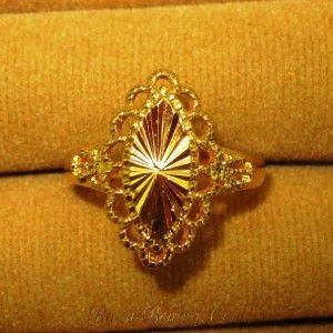 Jual Imperial Gold Filled Vintage Ring ~ Ukuran 19mm untuk Wanita