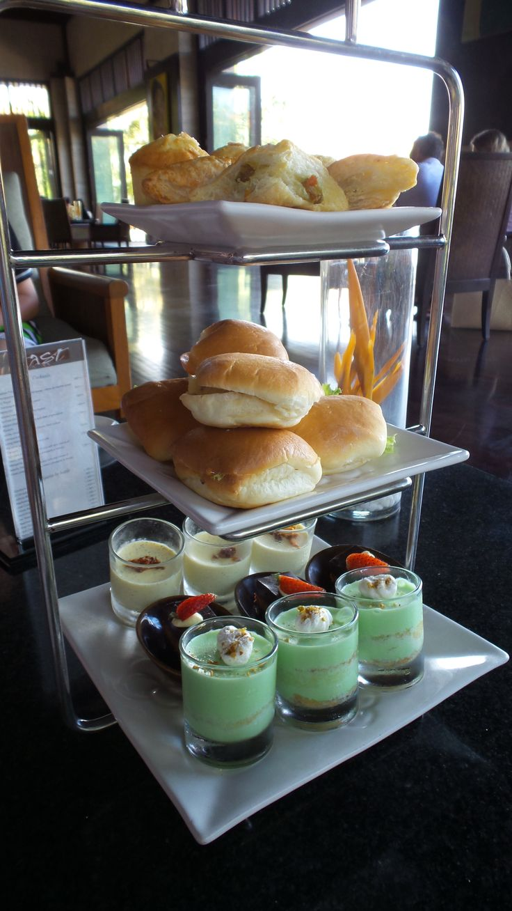 A sample of the afternoon tea available daily if you are staying in the suites at the Conrad Bali Resort or are a diamond HHonors member like us.