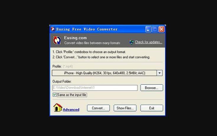Eusing Free Video Converter es un práctico software gratuito, compatible con Windows, para convertir fácilmente entre diferentes formatos de vídeo.